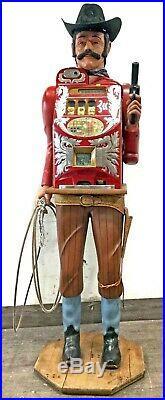 Vintage cowboy slot machine