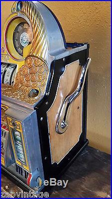 Vtg 1930s Antique WATLING ROL-A-TOP SLOT MACHINE 5 CENT Fortune Candy Vendor