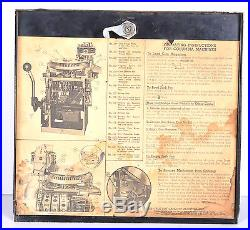 Vtg Antique Columbia 5 cent Slot Machine Jak-Pot As-Is Restoration Circa 1930s