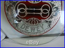 Vtg Mills Dewey upright slot machine restored glass Antique coin op part