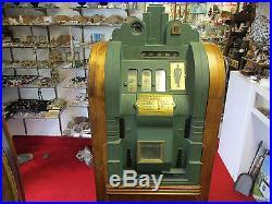 Vtg Working Art Deco Mills ExtraOrdinary Dime Slot Machine Floor Model 1933-34