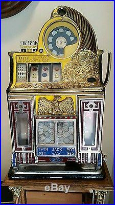 WATLING Rare Rol-A-Top Vendor Coin Front Slot-Machine / Great Condition