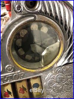 WATLING Rol-A-Top 5c Coin Front Eagle Motif Twin Jackpot Vendor Slot-Machine