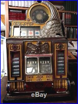 WATLING Rol-A-Top, 5c Coin Front, Twin Jackpot, Vendor Slot-Machine. Eagle Motif