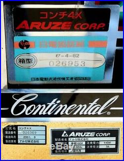 WORKING VINTAGE JAPAN ARUZE B-TYPE QUARTER SLOT MACHINE with188 LAS VEGAS TOKENS