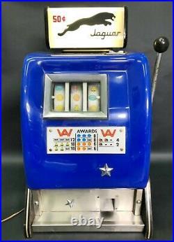 WORKS 1950s Mills Slot Machine Jaguar Blue Bakelite Mid Century Modern Vintage