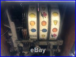 Watling 1 Cent Penny Slot Machine with gum ball front original unrestored