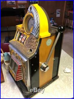 Watling 10 Cent Rol-a-top Slot Machine Vintage 1940's