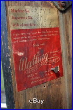 Watling 1935 Rol A Tor 5 Cent Vending Slot Machine Pre Rol A Top Very Rare