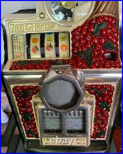 Watling Cherry Front Rol-A-Top Slot Machine 5 Cent