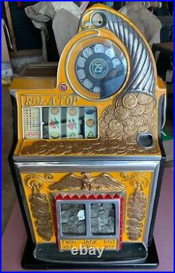 Watling Coin Front Rol-A-Top Slot Machine 25 Cent