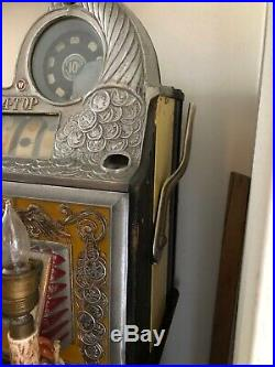 Watling Rol-A-Top Slot Machine 10 Cent American Silver Coin & Eagle Style Motif