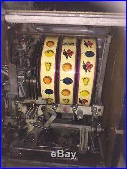 Watling slot machine, Excellent Original Working Cond. 25 Cent. Circa 1936