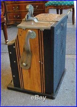 Whatling Treasury 5 Cent Twin Jackpot Slot Machine Circa 1936