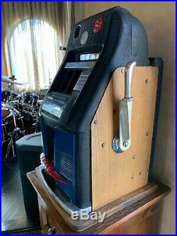 Wild Deuce Antique Nickel Slot Machine in Perfect Working Condition, Cherry