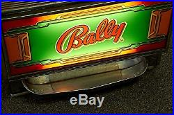 -bally Play 1 To 3 Coins 3 Reel 25 Cent Slot Machine